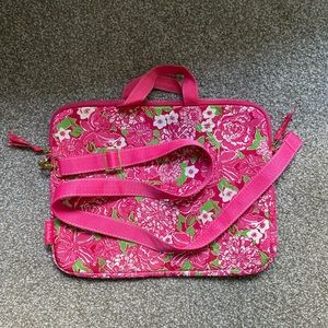 Lily Pulitzer May Flowers Large Laptop Bag